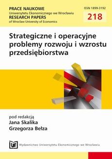 Strategiczne i operacyjne problemy rozwoju i wzrostu przedsiębiorstwa