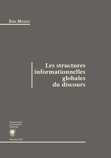Les structures informationnelles globales du discours - 05 Rozdz. 5. L'enchaînement entre les segments thématiques; Conclusion; Bibliographie