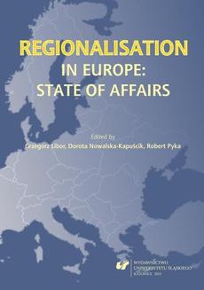 Regionalisation in Europe: The State of Affairs - 09 Gouvernance métropolitaine comme outil du renouvellement économique et de la << résilience >> dans les anciennes régions industrielles – exemple de la conurbation silésienne en Pologne
