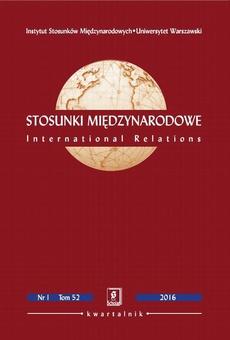 Stosunki Międzynarodowe nr 1(52)/2016 - Tomasz Grzegorz Grosse: Geopolityczne strategie państw mniejszych i peryferyjnych – przykład Polski w Unii Europejskiej