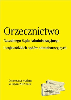 Orzecznictwo NSA i WSA - luty 2012