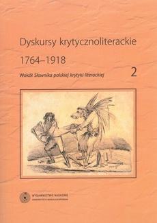 Dyskursy krytycznoliterackie 1764-1918
