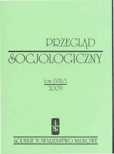 Przegląd Socjologiczny t. 58 z. 1/2009