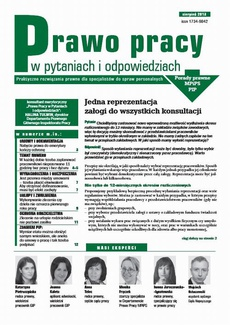 Prawo pracy w pytaniach i odpowiedziach sierpień 2013