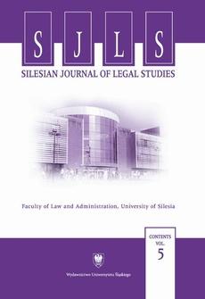 """""""Silesian Journal of Legal Studies"""". Contents Vol. 5 - 05 Les curateurs professionnels et sociaux exerçant une surveillance des mineurs"""