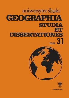 Geographia. Studia et Dissertationes. T. 31