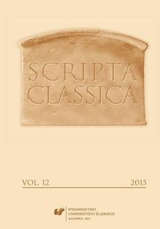 Scripta Classica. Vol. 12