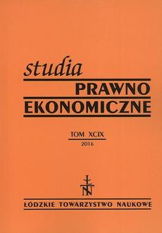 Studia Prawno-Ekonomiczne t. 99
