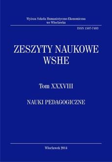 Zeszyty Naukowe WSHE, t. XXXVIII, Nauki Pedagogiczne
