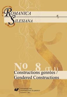 """Romanica Silesiana. No 8. T. 1: Constructions genrées / Gendered Constructions - 26 « Le mythe du supermâle » : entre la France et le Maghreb dans """"La vie sexuelle d'un islamiste a Paris"""" de Leila Marouane"""