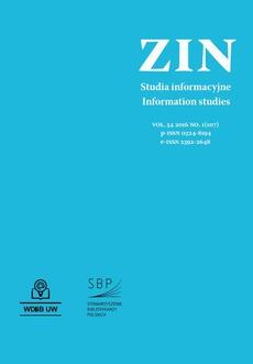 Zagadnienia Informacji Naukowej Vol. 54 2016 no. 1(107)