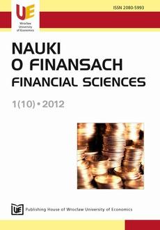 Nauki o Finansach 1(10) 2012