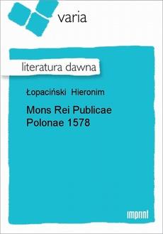 Mons Rei Publicae Polonae 1578