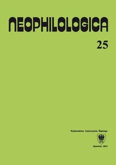 Neophilologica. Vol. 25: Études sémantico-syntaxiques des langues romanes
