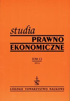 Studia Prawno-Ekonomiczne t. 101