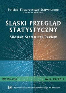 Śląski Przegląd Statystyczny 9(15) 2011
