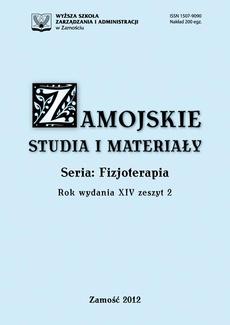 Zamojskie Studia i Materiały. Seria Fizjoterapia. T. 14, z. 2