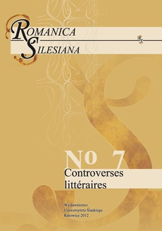 Romanica Silesiana. No 7: Controverses littéraires - 13 Le duel de Jean-Paul Sartre