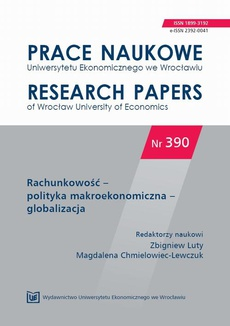 Rachunkowość – polityka makroekonomiczna – globalizacja. PN 390