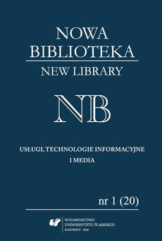 """""""Nowa Biblioteka. New Library. Usługi, technologie informacyjne i media"""" 2016, nr 1 (20): Międzynarodowe aspekty bibliotekarstwa - 01 Międzynarodowe organizacje standaryzacyjne i normalizacyjne w zakresie bibliotekarstwa"""