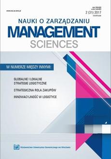 Nauki o Zarządzaniu. Management Sciences 2017 2(31)