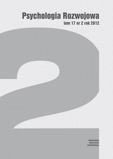 Psychologia Rozwojowa, t. 17 nr 2 rok 2012
