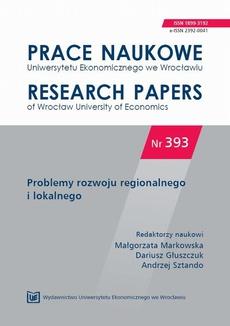 Problemy rozwoju regionalnego i lokalnego. PN 393