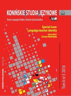 Konińskie Studia Językowe Tom 6 Nr 3 2018
