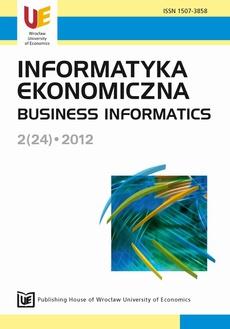 Informatyka Ekonomiczna 2(24)