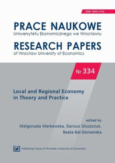 Local and Regional Economy in Theory and Practice. PN 334