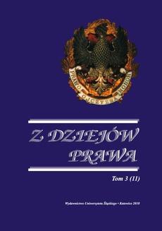 """Z Dziejów Prawa. T. 3 (11) - 02 Wincenty Skrzetuski """"O Senacie"""" w Rzeczypospolitej szlacheckiej"""