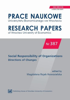 Social Responsibility of Organizations Directions of Changes. PN 387