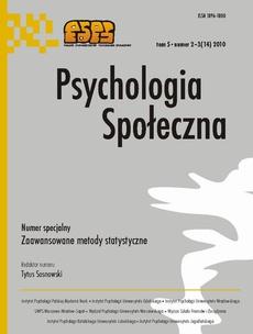 Psychologia Społeczna nr 2-3(14)/2010