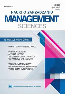 Nauki o Zarządzaniu. Management Sciences 2017 1(30)
