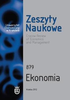 Zeszyty Naukowe Uniwersytetu Ekonomicznego w Krakowie, nr 879. Ekonomia