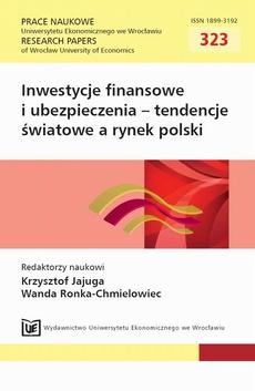 Inwestycje finansowe i ubezpieczenia – tendencje światowe a rynek polski. PN 323