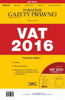 Podatki 2016/03 Podatki cz. I VAT 2016