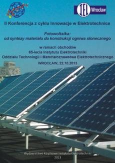 Fotowoltaika: od syntezy materiału do konstrukcji ogniwa słonecznego