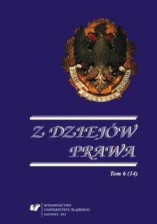 Z Dziejów Prawa. T. 6 (14) - 01 Wincenty Skrzetuski o sądach i prawie miejskim oraz potrzebie ich reformy