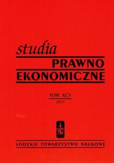 Studia Prawno-Ekonomiczne t. 96