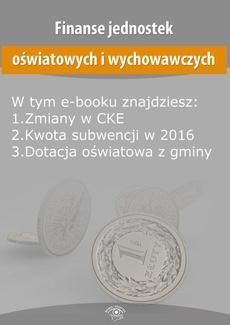 Finanse jednostek oświatowych i wychowawczych, wydanie grudzień 2015 r.