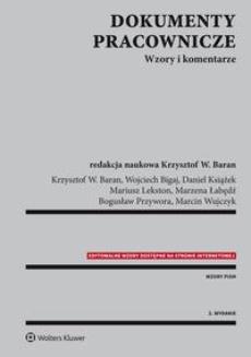 Dokumenty Pracownicze Wzory I Komentarze Marcin Wujczyk