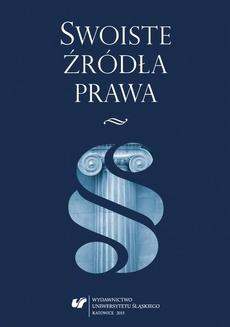 Swoiste źródła prawa - 09 Kodeksy deontologiczne jako swoiste źródło prawa w Polsce