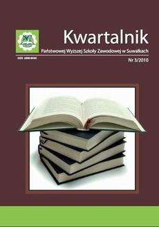 Kwartalnik Państwowej Wyższej Szkoły Zawodowej w Suwałkach nr 3/2010