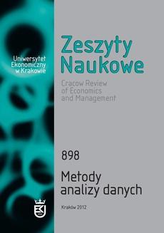 Zeszyty Naukowe Uniwersytetu Ekonomicznego w Krakowie, nr 898. Metody analizy danych