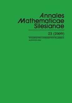 Annales Mathematicae Silesianae. T. 23 (2009)