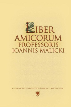 """Liber amicorum Professoris Ioannis Malicki - 09 """"Tu można dostać >>Joanny Pokład<<. Tudzież za darmo na głowę okład"""". O Morcinkowej """"Księdze gości"""""""