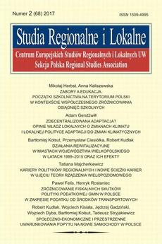 Studia Regionalne i Lokalne nr 2(68)/2017