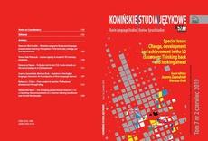 Konińskie Studia Językowe Tom 7 Nr 2 2019