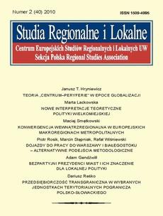 Studia Regionalne i Lokalne nr 2(40)/2010